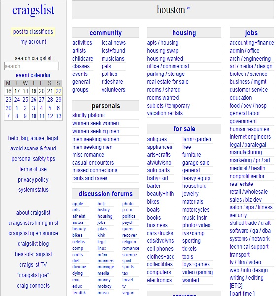 Craiflist Com: Craigslist Houston Auto Parts Motor
